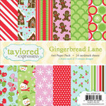 Taylored Expressions - 6 x 6 Paper Pad - Christmas - Gingerbread Lane