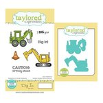Taylored Expressions - Cling Stamp and Die Set - Dig In