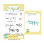 Taylored Expressions - Cling Stamp and Die Set - Think Happy Thoughts