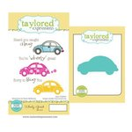 Taylored Expressions - Cling Stamp and Die Set - Wheely Great