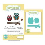 Taylored Expressions - Cling Stamp and Die Set - Hoot Hoot Hooray