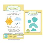 Taylored Expressions - Cling Stamp and Die Set - Sunny Days