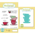 Taylored Expressions - Cling Stamp and Die Set - Tea-Riffic