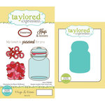 Taylored Expressions - Cling Stamp and Die Set - Hugs and Kisses