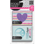 Me and My Big Ideas - Pocket Pages - Specialty Cards - 3 x 4 - Tween Purple Heart