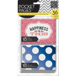Me and My Big Ideas - Pocket Pages - Specialty Cards - 3 x 4 - Happiness is This