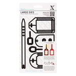 DoCrafts - Xcut - Decorative Dies - Large - All Aboard - Luggage Tags