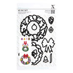 DoCrafts - Xcut A5 Die Set - Lucy Cromwell At Christmas Wreath