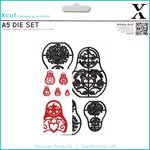 Docrafts - Xcut - A5 Die Set - Russian Dolls
