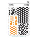 Docrafts - Xcut - A5 Die Set - Bee Keeping