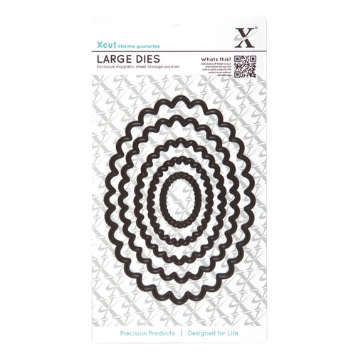 DoCrafts - Xcut - Nesting Dies - Large - Scalloped Oval