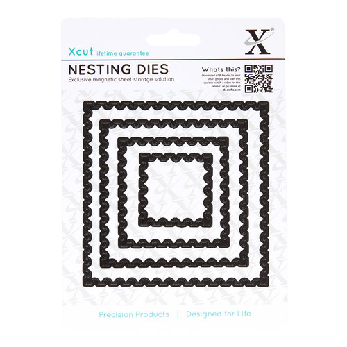 DoCrafts - Xcut - Nesting Dies - Postage Stamp