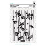 Docrafts - Xcut - A5 Embossing Folder - Cherry Blossom Stripes