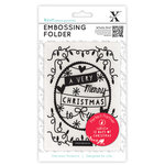 DoCrafts - Xcut Universal A6 Embossing Folder - 12 Days Of Christmas Word Banner