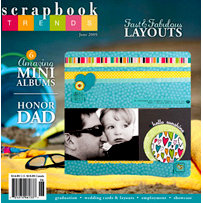 Scrapbook Trends Magazine - June 2009, BRAND NEW