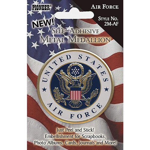Pioneer - Self Adhesive Metal Medallion - Air Force