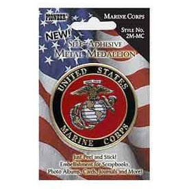 Pioneer - Self Adhesive Metal Medallion - Marines