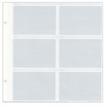 Pioneer - Le Memo Photo Albums Refill Pages - 10 Pages - Holds Six 4x6 Inch Photo Pockets Per Page