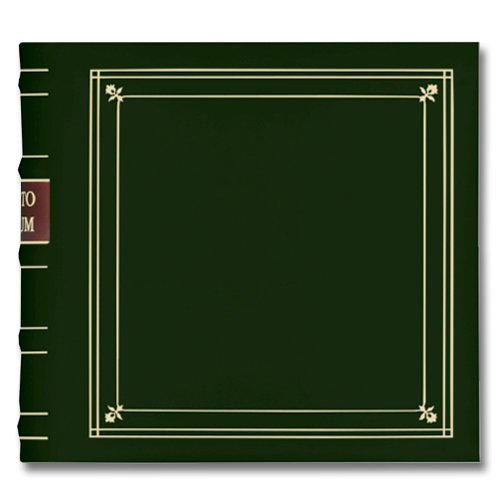 Pioneer - 2-Up Bonded Leather Album 3 Ring - 200 Pockets - Hunter Green