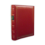 Pioneer - 3-Up Bonded Leather Album 3 Ring - 204 Pockets - Red