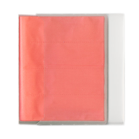 Pioneer - Space Saver - 2-Up Poly Photo Album - 72 Slip-In Pockets - Pink