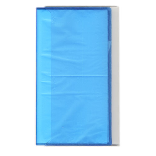Pioneer - Space Saver - 3-Up Poly Photo Album - 144 Slip-In Pockets - Blue