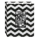 Pioneer - Fabric Chevron 100 Pocket Photo Album - Black