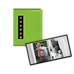 Pioneer - 36 4x6 Inch Photo Pockets - Brag Metal Button Sewn Album - Green