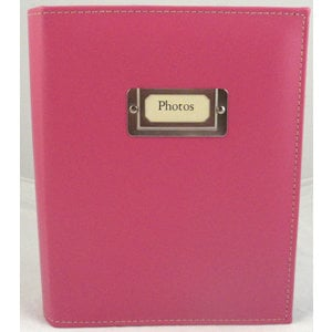 Pioneer - Carde Sewn Photo Album - 208 4x6 Inch Photo Pockets - Bright Pink - 2 Up Album