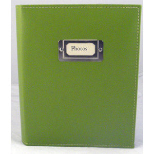 Pioneer - Carde Sewn Photo Album - 208 4x6 Inch Photo Pockets - Green - 2 Up Album