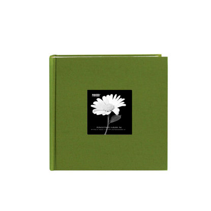 Pioneer - 2 Up Album - 200 4x6 Inch Photo Pockets - Natural Color Fabric Frame - Herbal Green