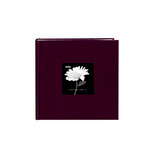 Pioneer - 2 Up Album - 200 4x6 Inch Photo Pockets - Natural Color Fabric Frame - Sweet Plum