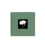 Pioneer - 2 Up Album - 200 4x6 Inch Photo Pockets - Natural Color Fabric Frame - Tranquil Aqua