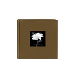 Pioneer - 2 Up Album - 200 4x6 Inch Photo Pockets - Natural Color Fabric Frame - Warm Mocha