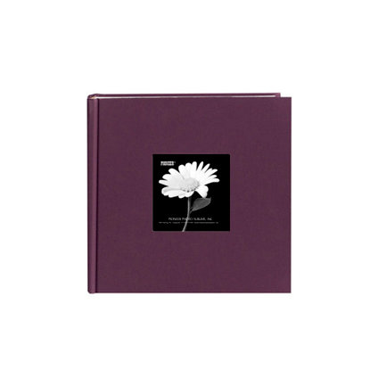 Pioneer - 2 Up Album - 200 4x6 Inch Photo Pockets - Natural Color Fabric Frame - Wildberry Purple