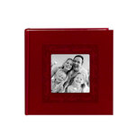 Pioneer - 2 Up Album - 200 4x6 Inch Photo Pockets - Embossed Script Leatherette Frame - Red