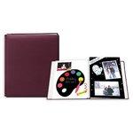 Pioneer - 12x15 Postbound Album - Fabric - Burgundy