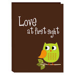 Pioneer - 36 4x6 Inch Photo Pockets - Poly Photo Album - Baby Owl - Green