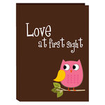 Pioneer - 36 4x6 Inch Photo Pockets - Poly Photo Album - Baby Owl - Pink