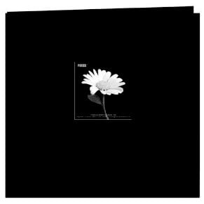 Pioneer - EZ Load Memory Album - 12 x 12 - 20 Top Loading Pages - Embroidered Floral Fabric - Black