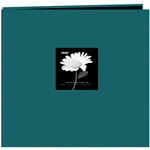 Pioneer - EZ Load Memory Album - 12 x 12 - 20 Top Loading Pages - Natural Color Fabric Frame - Majestic Teal