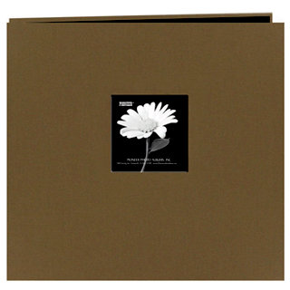 Pioneer - EZ Load Memory Album - 12 x 12 - 20 Top Loading Pages - Natural Color Fabric Frame - Warm Mocha