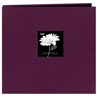 Pioneer - EZ Load Memory Album - 12 x 12 - 20 Top Loading Pages - Natural Color Fabric Frame - Wildberry Purple