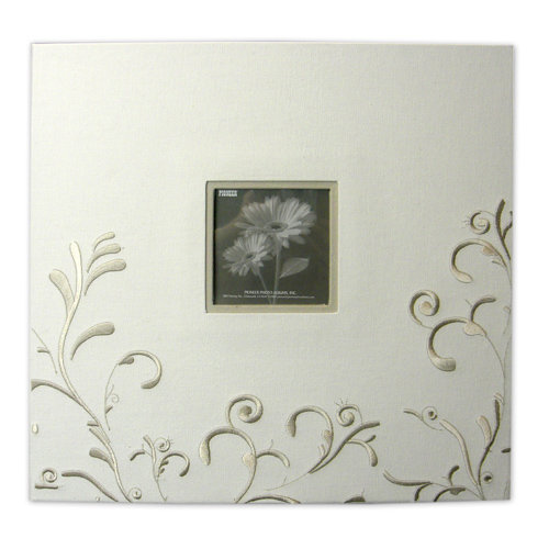 Pioneer - EZ Load Memory Album - 12 x 12 - 20 Top Loading Pages - Embroidered Scroll Frame Fabric - Ivory