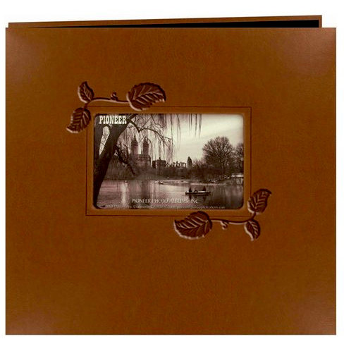 Pioneer - EZ Load Memory Album - 12 x 12 - 20 Top Loading Pages - Embossed Leatherette Frame - Brown Ivy