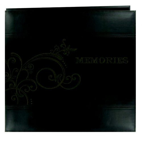 Pioneer - EZ Load Memory Album - 12 x 12 - 20 Top Loading Pages - Embroidered Leatherette - Memories - Brown