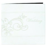 Pioneer - EZ Load Memory Album - 12 x 12 - 20 Top Loading Pages - Embroidered Leatherette - Wedding - Ivory