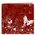 Pioneer - EZ Load Memory Album - 12 x 12 - 20 Top Loading Pages - En Vogue Designer - Butterfly Swirl