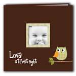 Pioneer - EZ Load Memory Album - 12 x 12 - 10 Top Loading Pages - Printed Designer Frame - Baby Owl - Green