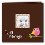 Pioneer - EZ Load Memory Album - 12 x 12 - 10 Top Loading Pages - Printed Designer Frame - Baby Owl - Pink